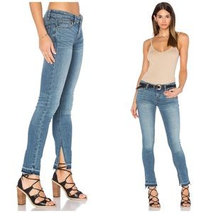 NWT Free People Low Rise Ankle Slit Jeans